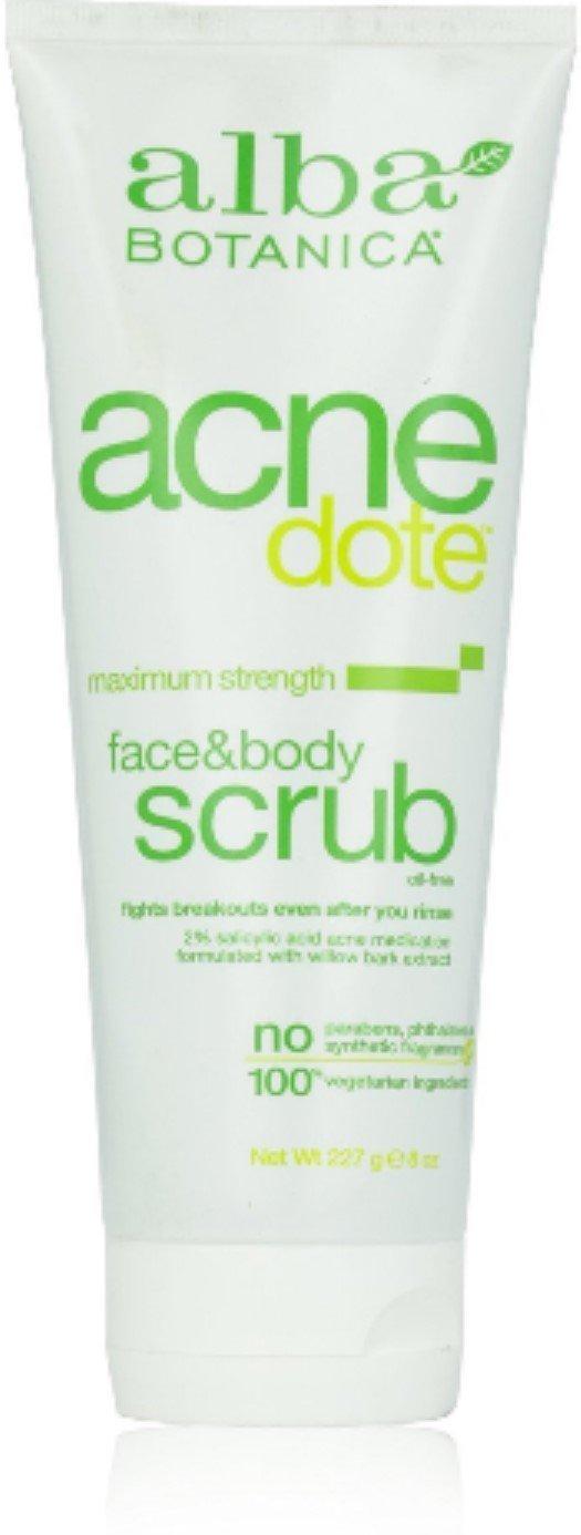 Alba Botanica Natural AcneDote Face & Body Scrub 8 oz (Pack of 9)