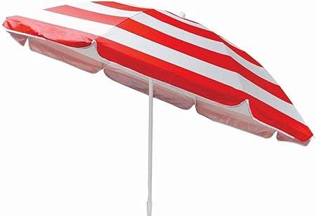 Guilty Gadgets - Sombrilla inclinable para jardín o playa, 1,7 m, color rojo: Amazon.es: Hogar
