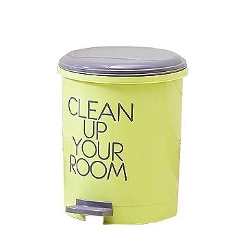 Amazon.com: MDBLYJ Cubo de basura con pedal para el hogar ...