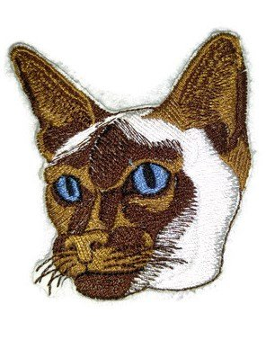 "Amazing Custom Cat Portraits[Siamese CatFace ] Embroidered Iron On/Sew patch [3"" x 3""]Made in USA]"