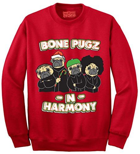 Bone Pugz N Harmony - Ugly Christmas Sweater (Tacky Christmas Outfits)
