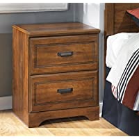 Ashley Barchan 2 Drawer Wood Nightstand in Brown