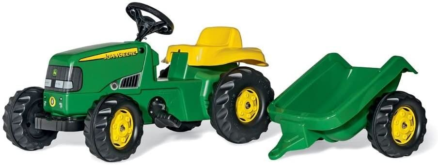 Rolly-12190 Tractor John Deere con Remolque, Color (de Couleur Vert) (12190)