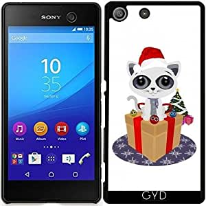 Funda para Sony Xperia M5 - Navidad - Gatito by Adamzworld