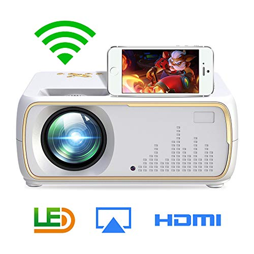 Alician A20 Mini Projector HD 1080P TV Projector Home Cinema Projector Same Screen White US Plug ()