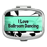 Rectangle Pill Case Trinket Gift Box I Love Heart Sports Hobbies Ab-Ba - Ballroom Dancing