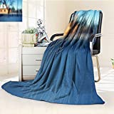 YOYI-HOME Lightweight Summer Duplex Printed Blanket, Windows in Winter Warm Microfiber All Season