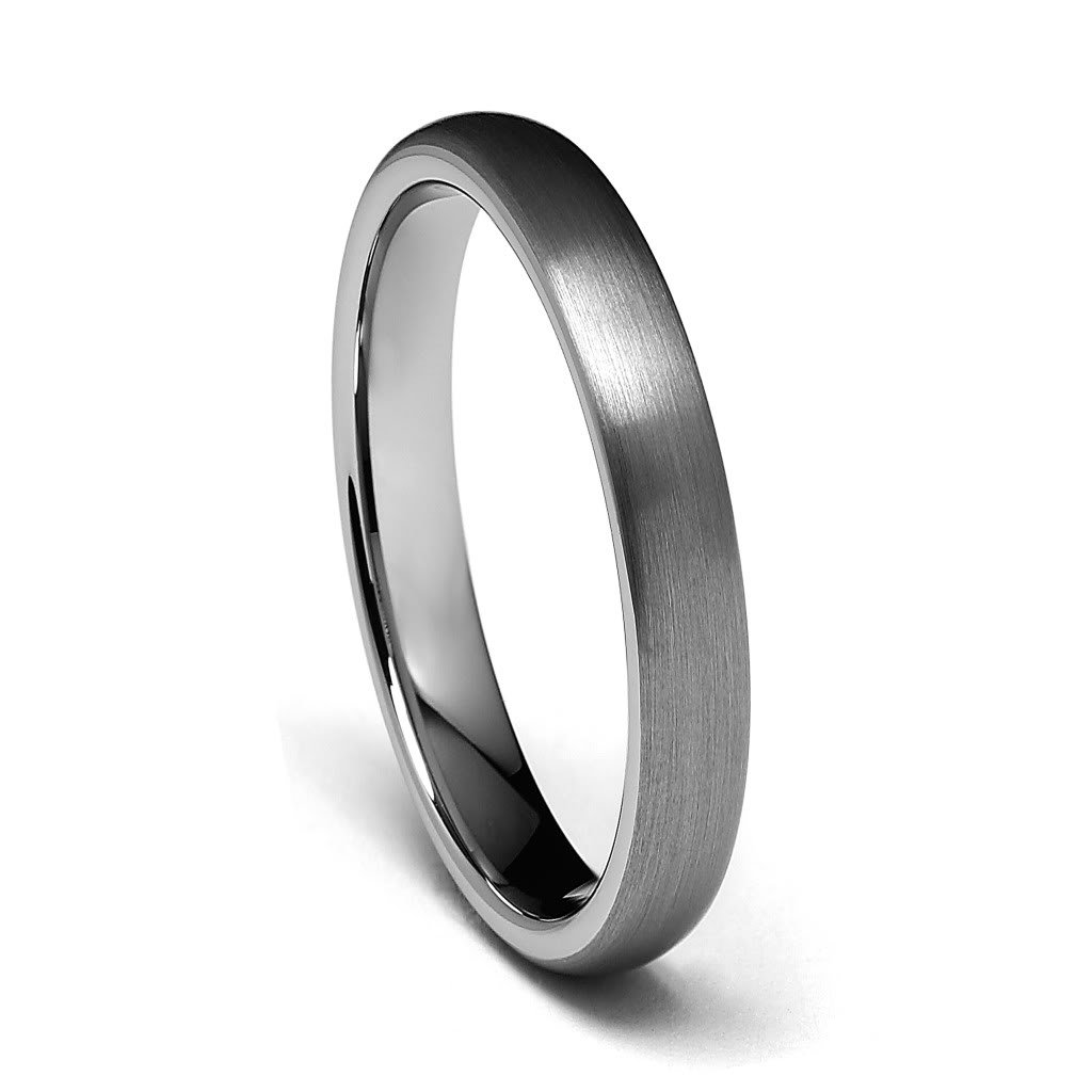 GoldenMine 4mm Round Tungsten Wedding Band
