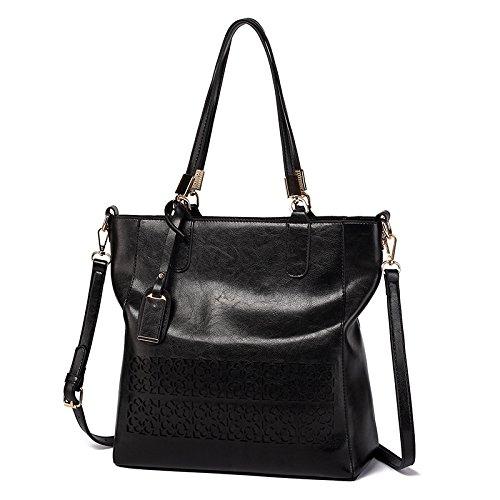 Frauen Schultertasche Aushöhlen Handtaschen Schwarzes Occasionnels Designer Umhängetasche Handtaschen KLXEB UxqdPq