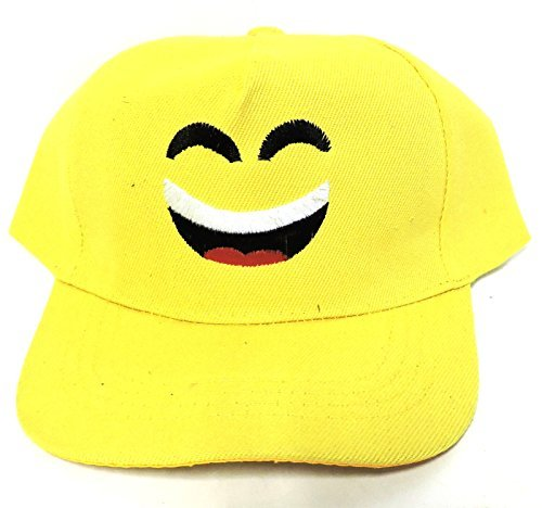 Cap Happy Face (Emoji Basebal Hat Unisex Adjustable Friendly Happy Face)