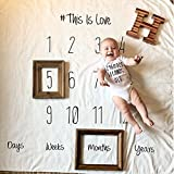 Moolon Newborn Baby Blanket For Photos Background Photography Monthly Growth Milestone Numbers Props Stroller Covers (# 1)