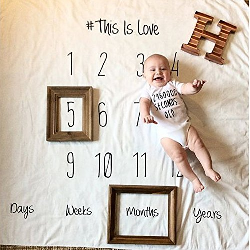 Moolon Newborn Baby Blanket For Photos Background Photography Monthly Growth Milestone Numbers Props Stroller Covers    1