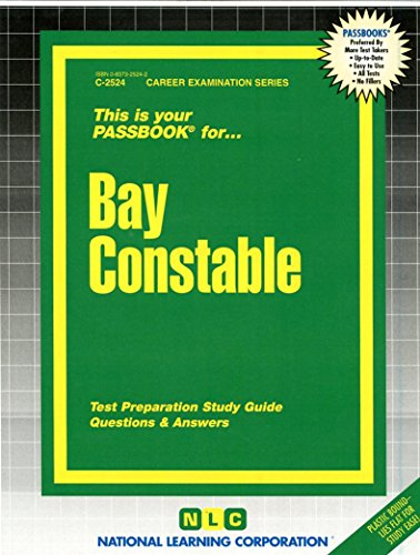Bay Constable(Passbooks) (Career Examination Series C-2524)