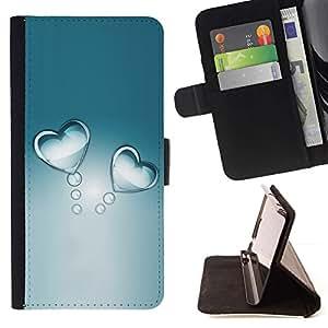 For Sony Xperia M4 Aqua Case , Refractiva Gray Agua Cristal- la tarjeta de Crédito Slots PU Funda de cuero Monedero caso cubierta de piel