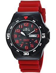 Invicta Men's 'Coalition Forces' Quartz Stainless Steel and Silicone Casual Watch, Color:Red (Model: 25327)