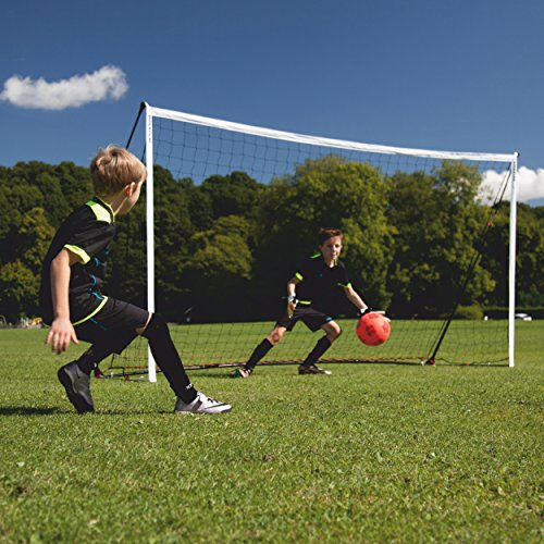 QuickPlay Kickster Academy Soccer Goal 12x6' - Ultra Portable Soccer Goal Includes Soccer Net and Carry Bag [Single Goal] Now Available in The US for The First time. (Best Soccer Goals Of All Time)