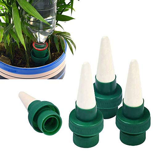 Fullsexy Vacation Plant Waterer, Self Plant Watering Stakes, Ceramic Self Watering Spikes, Automatic Flower and Drip Irrigation Watering Stakes System for Indoor&Outdoor Use, 4 Pack by Fullsexy