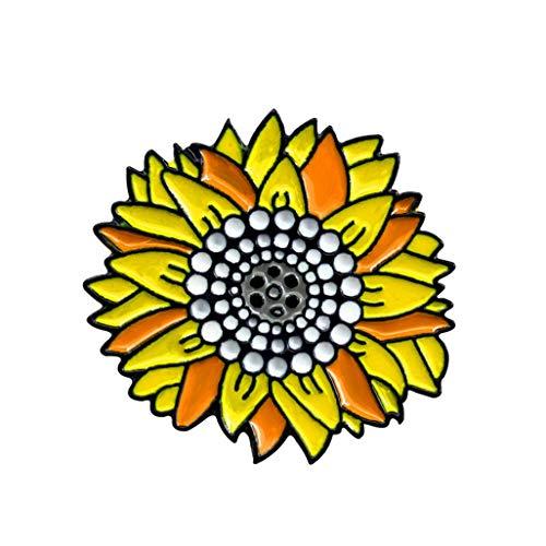 WEILYDF Sunflower Brooch Vintage Simple Women Children Badge Brooch Metal Enamel Backpack Bag Jeans Jewelry Decoration