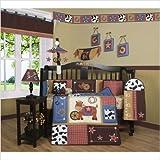 GEENNY Boutique Crib Bedding Set, Horse Western Cowboy, 13 Piece