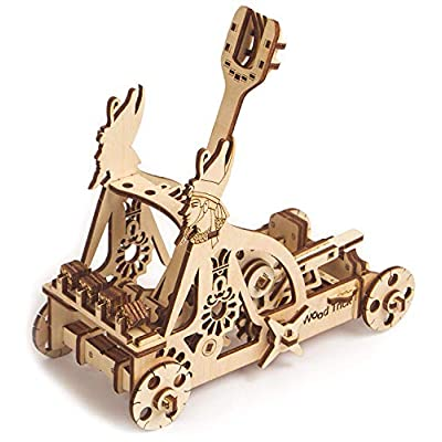 Wood Trick Catapult Wooden Model Kit to Build - Build Your Own Wooden Catapult - 3D Wooden Puzzle: Toys & Games
