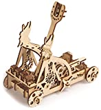 Wood Trick Egyptian CATAPULT Slingshot Mechanical Models 3D Wooden Puzzles DIY Toy Assembly Gears Constructor Kits for Kids, Teens and Adults
