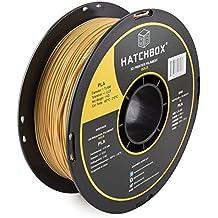 HATCHBOX PLA 3D Printer Filament, Dimensional Accuracy +/- 0.03 mm, 1 kg Spool, 1.75 mm, Gold