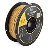 HATCHBOX PLA 3D Printer Filament, Dimensional Accuracy +/- 0.03 mm, 1 kg Spool, 1.75 mm, Gold