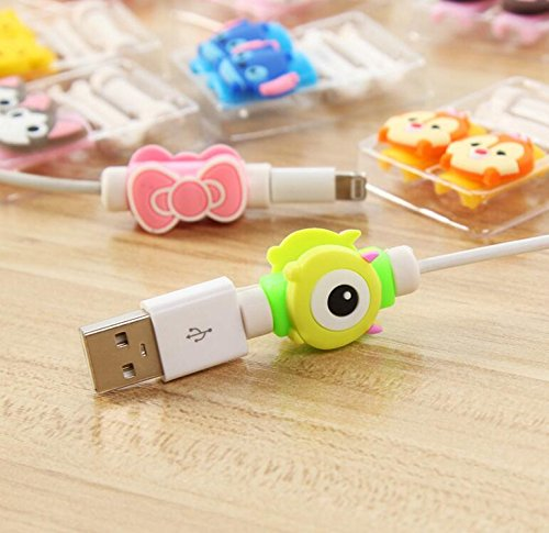ZOEAST 18pcs Stitch Owl Cat Kitty Batman Apple Lightning Data Cable USB Charging Data Line Saver Protector for
