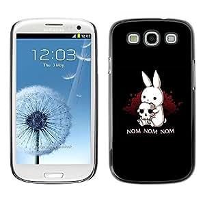 EJOY---Cubierta de la caja de protección la piel dura para el ** Samsung Galaxy S3 ** --Nom Nom Conejito malvado