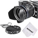 Neewer Lens Hood Kit for Sony Alpha E PZ E-mount Power Zoom 16-50mm F3.5-5.6 OSS Essential Lens:Tulip Lens Hood+Lens Cap+Lens Adapter 40.5-52mm for Sony A5000,A5100,A6000,NEX-5T,NEX-6 Lenses