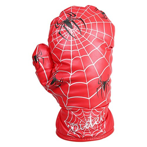 (Sword &Shield sports Golf Spider Web Design Boxing Glove Driver Headcover(Red))