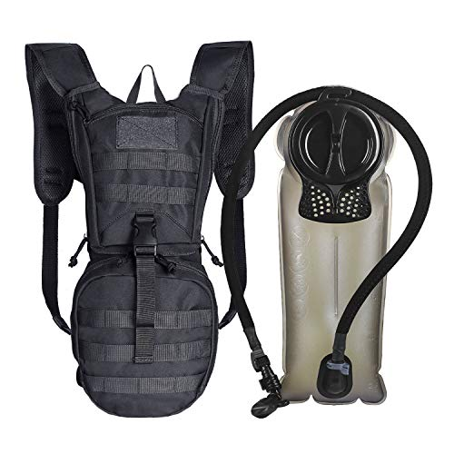 Unigear Tactical Hydration Pack Backpack 900D with 2.5L Bladder for Hiking, Biking, Running, Walking and Climbing(Black) (Best Hydration Pack For Ocr)