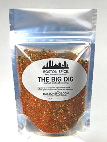 Boston Spice The Big Dig Seafood Stuffing Seasoning for Stuffed Shellfish Clams Quahogs Oysters Fish Cod Haddock Shrimp Lobster (Approx. 1 Cup of Spice)