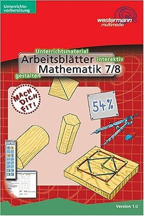 Arbeitsblätter Mathematik Klasse 78 1 Cd