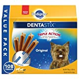PEDIGREE Dentastix Toy/Small Dog Treats, Original, 108 Treats (Pack of 2)
