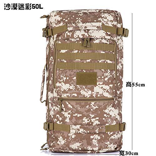 Desert Camouflage 50L  ATLD Sac à Dos De Randonnée Sac à Dos De Voyage Sacs d'alpinisme Unisexe Massifs sacages D'Extérieur Sac à Dos Sacs Touristiques