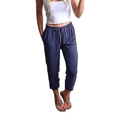 e85d227b1e80 beautyjourney Pantaloni Donna Jogger Slim Fit Skinny Pantalone Donna  Elegante Slim Fit Pantaloni Ragazza Tumblr Pantaloni
