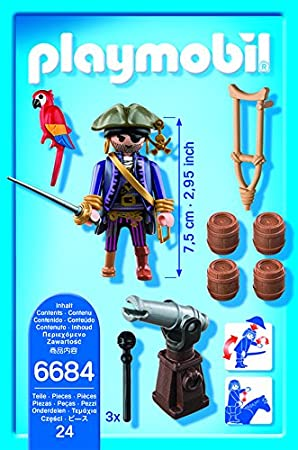 Playmobil 6684 Captain Pirate with Parrot Condition New