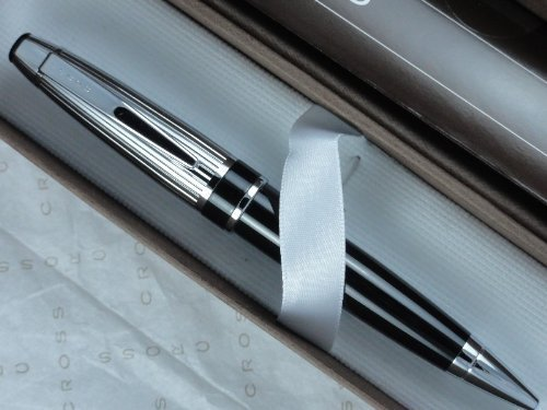 Cross Executive Pen (Cross Executive Companion Black with Extremely Polished and Ribbed Barrel Tuxedo)
