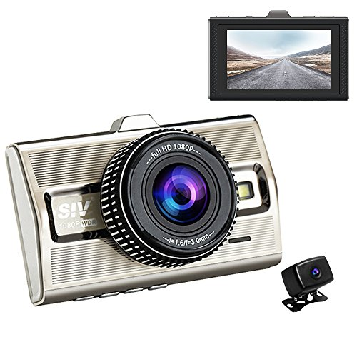 Siv 3.0″ LCD Images Dual Car Dash Camera Full HD 1080P Front and Rear Dash Cam for Cars Recorder 170° Wide Angle Dvr with Metal Shell Review