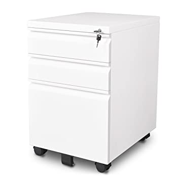 Amazon.com : DEVAISE 3-Drawer Mobile File Cabinet with Lock ...