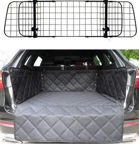 Mr E Saver© Quilted Heavy Duty Boot Mat Liner + Headrest Pet Dog Mesh Guard Barrier Divider MREHMBL3061