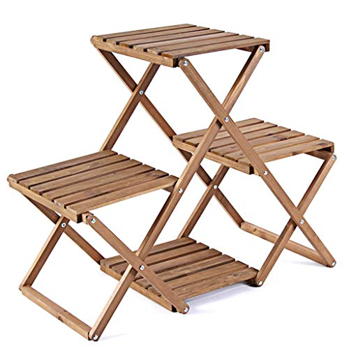 G-HJLXYZWJHOME Plant Stand Bracket Flower Pot Display Stand Wooden Storage Rack Suitable for Exhibition Hall Bedroom Living Room and Balcony, Etc.