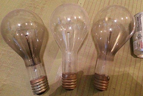 Lot of 3 JEWEL 300w BIG Light Bulbs 115v