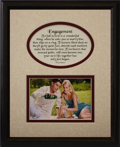 Amazon.com: 8x10 ENGAGEMENT Picture & Poetry Photo Gift Frame ...
