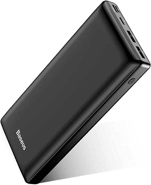 Baseus Bateria Externa para Movil 30000mAh,PowerBank,Power Bank Bateria Portatil Movil USB C Carga rapida para iPhone 11 Pro MAX, iPad, Mac, Samsung, Huawei, Xiaomi, Nintendo Switch Nergo