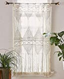 Flber Macrame Curtain Macrame Wall Hanging macramé Handwoven Boho Wedding Backdrop Kitchen Curtains,50''x 75''