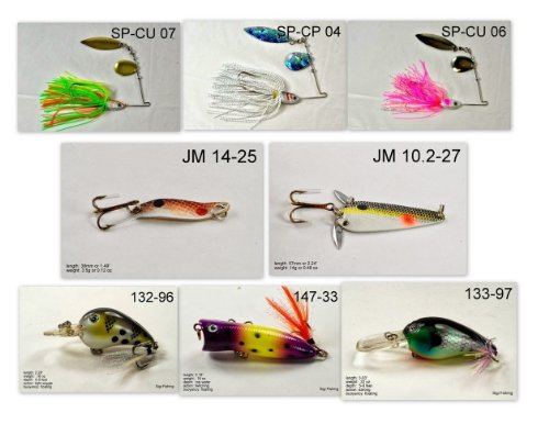 Akuna [AL] Pros' pick recommendation collection of lures for Bass, Panfish, Trout, Pike and Walleye fishing in Alabama(Pan Fish 8-A)