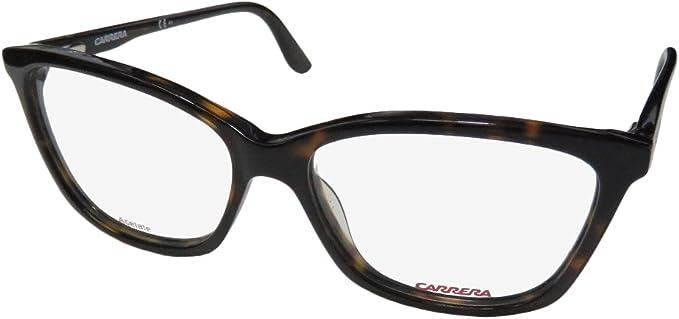 Carrera Plastic Rectangular Eyeglasses 52 0086 Havana