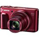 "Canon PowerShot SX720 HS - Cámara compacta digital de 20.3 MP (pantalla de 3"", zoom óptico 40x, estabilizador, video Full HD, WiFi) rojo"
